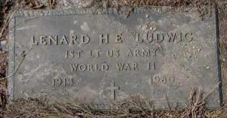 LUDWIG, LENARD H.E. - Yankton County, South Dakota | LENARD H.E. LUDWIG - South Dakota Gravestone Photos