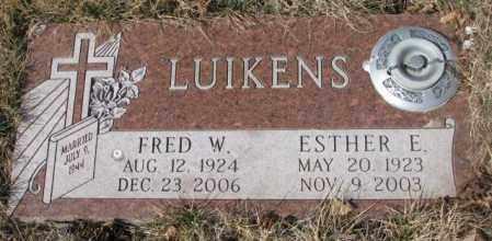LUIKENS, FRED W. - Yankton County, South Dakota | FRED W. LUIKENS - South Dakota Gravestone Photos