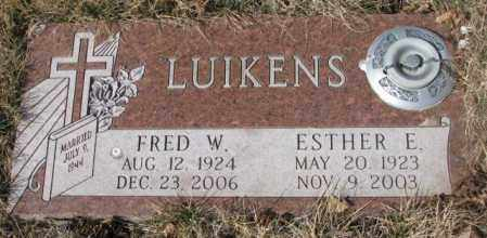 LUIKENS, FRED W. - Yankton County, South Dakota   FRED W. LUIKENS - South Dakota Gravestone Photos