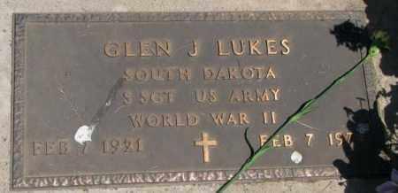 LUKES, GLEN J. (WW II) - Yankton County, South Dakota | GLEN J. (WW II) LUKES - South Dakota Gravestone Photos