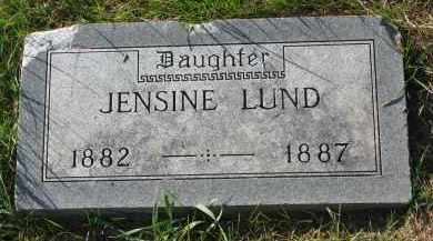 LUND, JENSINE - Yankton County, South Dakota | JENSINE LUND - South Dakota Gravestone Photos