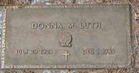 LUTH, DONNA M. - Yankton County, South Dakota | DONNA M. LUTH - South Dakota Gravestone Photos