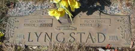 LYNGSTAD, FLORENCE - Yankton County, South Dakota | FLORENCE LYNGSTAD - South Dakota Gravestone Photos