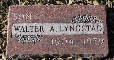LYNGSTAD, WALTER A. - Yankton County, South Dakota   WALTER A. LYNGSTAD - South Dakota Gravestone Photos