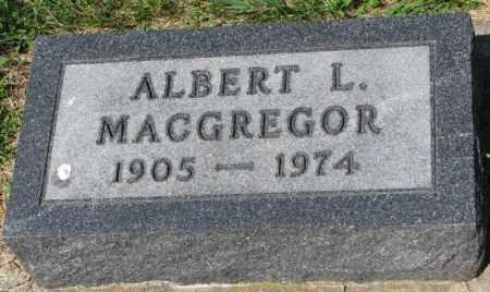 MACGREGOR, ALBERT L. - Yankton County, South Dakota   ALBERT L. MACGREGOR - South Dakota Gravestone Photos