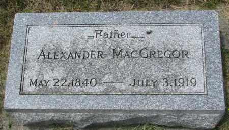MACGREGOR, ALEXANDER - Yankton County, South Dakota | ALEXANDER MACGREGOR - South Dakota Gravestone Photos