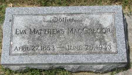 MACGREGOR, EVA - Yankton County, South Dakota   EVA MACGREGOR - South Dakota Gravestone Photos