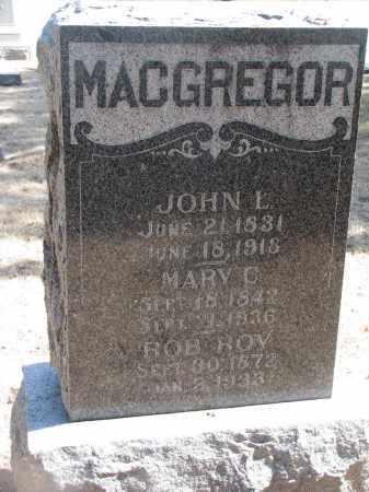 MACGREGOR, JOHN L. - Yankton County, South Dakota | JOHN L. MACGREGOR - South Dakota Gravestone Photos