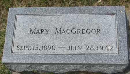 MACGREGOR, MARY - Yankton County, South Dakota   MARY MACGREGOR - South Dakota Gravestone Photos