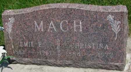MACH, EMIL E. - Yankton County, South Dakota | EMIL E. MACH - South Dakota Gravestone Photos