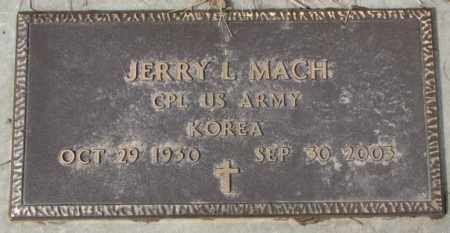 MACH, JERRY L. (KOREA) - Yankton County, South Dakota | JERRY L. (KOREA) MACH - South Dakota Gravestone Photos