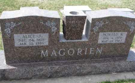 MAGORIEN, HOWARD W. - Yankton County, South Dakota | HOWARD W. MAGORIEN - South Dakota Gravestone Photos