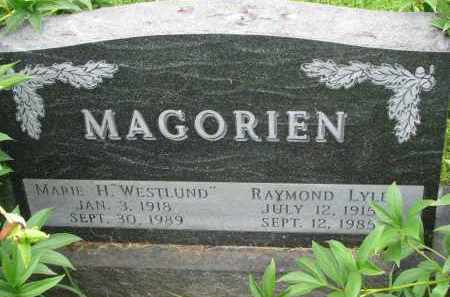 MAGORIEN, MARIE H. - Yankton County, South Dakota | MARIE H. MAGORIEN - South Dakota Gravestone Photos