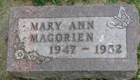 MAGORIEN, MARY ANN - Yankton County, South Dakota | MARY ANN MAGORIEN - South Dakota Gravestone Photos