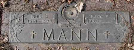MANN, FRED P. - Yankton County, South Dakota | FRED P. MANN - South Dakota Gravestone Photos