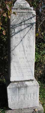 MANN, MARY J. - Yankton County, South Dakota | MARY J. MANN - South Dakota Gravestone Photos