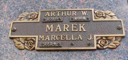 MAREK, MARCELLA J. - Yankton County, South Dakota   MARCELLA J. MAREK - South Dakota Gravestone Photos