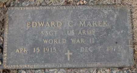 MAREK, EDWARD C. (WW II) - Yankton County, South Dakota | EDWARD C. (WW II) MAREK - South Dakota Gravestone Photos
