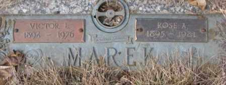 MAREK, VICTOR L. - Yankton County, South Dakota   VICTOR L. MAREK - South Dakota Gravestone Photos