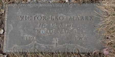 MAREK, VICTOR LEO (WW I) - Yankton County, South Dakota | VICTOR LEO (WW I) MAREK - South Dakota Gravestone Photos