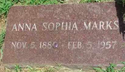 MARKS, ANNA SOPHIA - Yankton County, South Dakota   ANNA SOPHIA MARKS - South Dakota Gravestone Photos