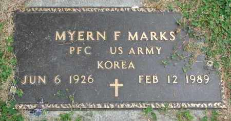 MARKS, MYERN F. (MILITARY) - Yankton County, South Dakota | MYERN F. (MILITARY) MARKS - South Dakota Gravestone Photos
