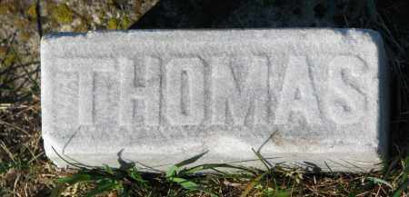 MARSHALL, THOMAS (FOOT STONE) - Yankton County, South Dakota | THOMAS (FOOT STONE) MARSHALL - South Dakota Gravestone Photos