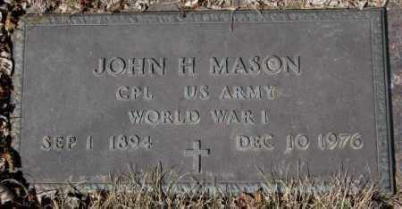 MASON, JOHN H. - Yankton County, South Dakota | JOHN H. MASON - South Dakota Gravestone Photos