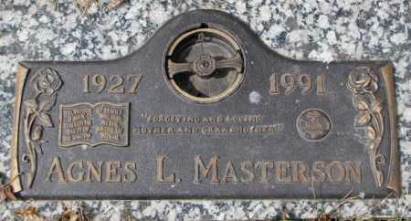 MASTERSON, AGNES L. - Yankton County, South Dakota | AGNES L. MASTERSON - South Dakota Gravestone Photos