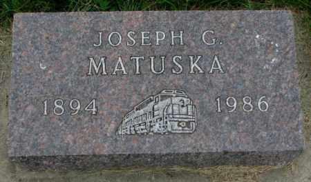MATUSKA, JOSEPH G. - Yankton County, South Dakota | JOSEPH G. MATUSKA - South Dakota Gravestone Photos