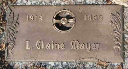 MAYER, L. ELAINE - Yankton County, South Dakota | L. ELAINE MAYER - South Dakota Gravestone Photos
