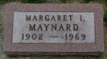 MAYNARD, MARGARET I. - Yankton County, South Dakota | MARGARET I. MAYNARD - South Dakota Gravestone Photos