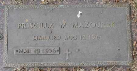 MAZOUREK, PRISCILLA M. - Yankton County, South Dakota   PRISCILLA M. MAZOUREK - South Dakota Gravestone Photos
