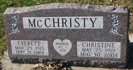 MCCHRISTY, EVERETT - Yankton County, South Dakota | EVERETT MCCHRISTY - South Dakota Gravestone Photos
