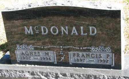 MCDONALD, AGNES M. - Yankton County, South Dakota | AGNES M. MCDONALD - South Dakota Gravestone Photos