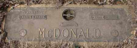 MCDONALD, NORRIS T. - Yankton County, South Dakota | NORRIS T. MCDONALD - South Dakota Gravestone Photos