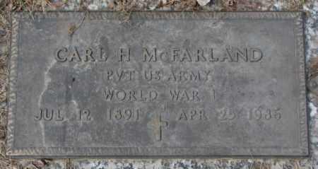 MCFARLAND, CARL H. (WW I) - Yankton County, South Dakota | CARL H. (WW I) MCFARLAND - South Dakota Gravestone Photos