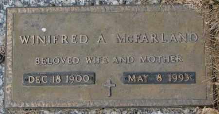 MCFARLAND, WINIFRED A. - Yankton County, South Dakota | WINIFRED A. MCFARLAND - South Dakota Gravestone Photos