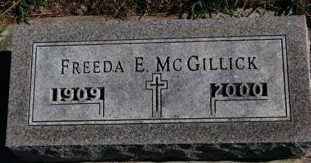 MCGILLICK, FREEDA E. - Yankton County, South Dakota | FREEDA E. MCGILLICK - South Dakota Gravestone Photos