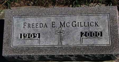 MCGILLICK, FREEDA E. - Yankton County, South Dakota | FREEDA E. MCGILLICK - South Dakota Gravestone Photos