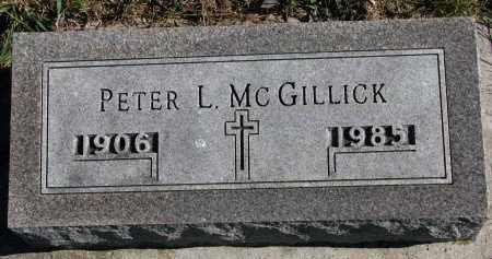 MCGILLICK, PETER L. - Yankton County, South Dakota   PETER L. MCGILLICK - South Dakota Gravestone Photos