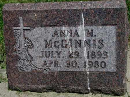 MCGINNIS, ANNA M. - Yankton County, South Dakota | ANNA M. MCGINNIS - South Dakota Gravestone Photos