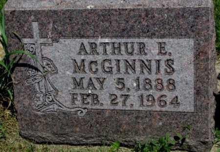 MCGINNIS, ARTHUR E. - Yankton County, South Dakota | ARTHUR E. MCGINNIS - South Dakota Gravestone Photos