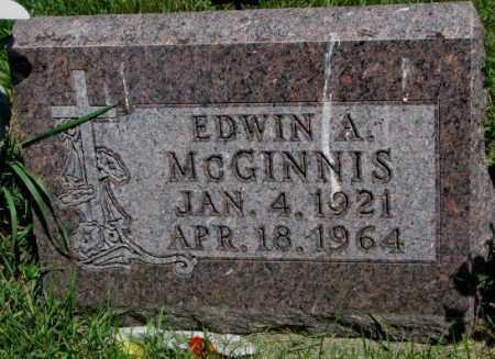 MCGINNIS, EDWIN A. - Yankton County, South Dakota | EDWIN A. MCGINNIS - South Dakota Gravestone Photos