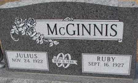MCGINNIS, JULIUS - Yankton County, South Dakota | JULIUS MCGINNIS - South Dakota Gravestone Photos