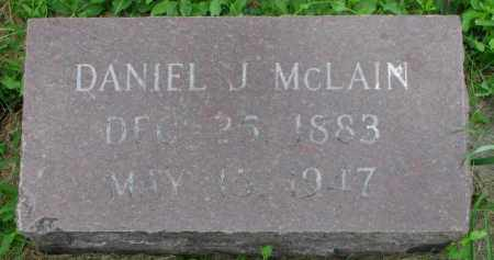 MCLAIN, DANIEL J. - Yankton County, South Dakota | DANIEL J. MCLAIN - South Dakota Gravestone Photos
