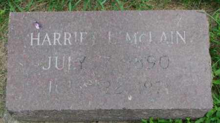 MCLAIN, HARRIET L. - Yankton County, South Dakota   HARRIET L. MCLAIN - South Dakota Gravestone Photos