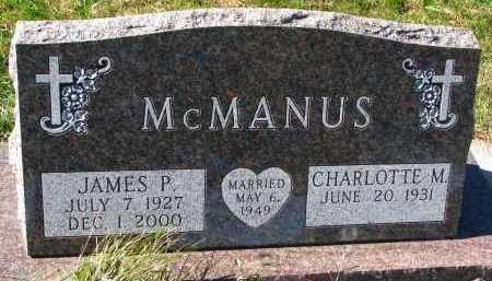 MCMANUS, CHARLOTTE M. - Yankton County, South Dakota | CHARLOTTE M. MCMANUS - South Dakota Gravestone Photos