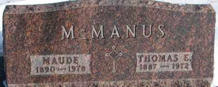 MCMANUS, THOMAS E. - Yankton County, South Dakota | THOMAS E. MCMANUS - South Dakota Gravestone Photos