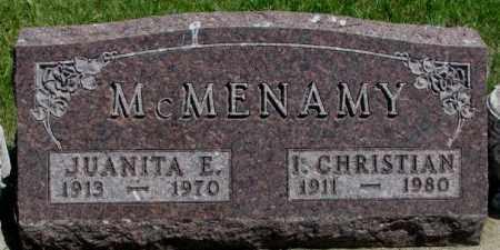 MCMENAMY, JUANITA E. - Yankton County, South Dakota   JUANITA E. MCMENAMY - South Dakota Gravestone Photos
